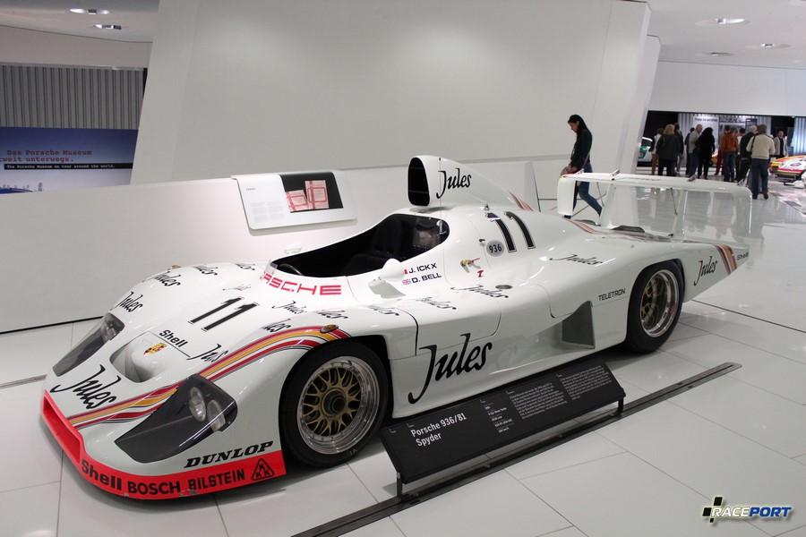 Porsche 936/81 Spyder 1981 г.в. Двигатель турбированный оппозитный 6 цил., объем 2650 куб см, мощность 620 л. с., макс. скорость 360 км/ч. 936/81 Spyder многократный победитель гонок LeMans.