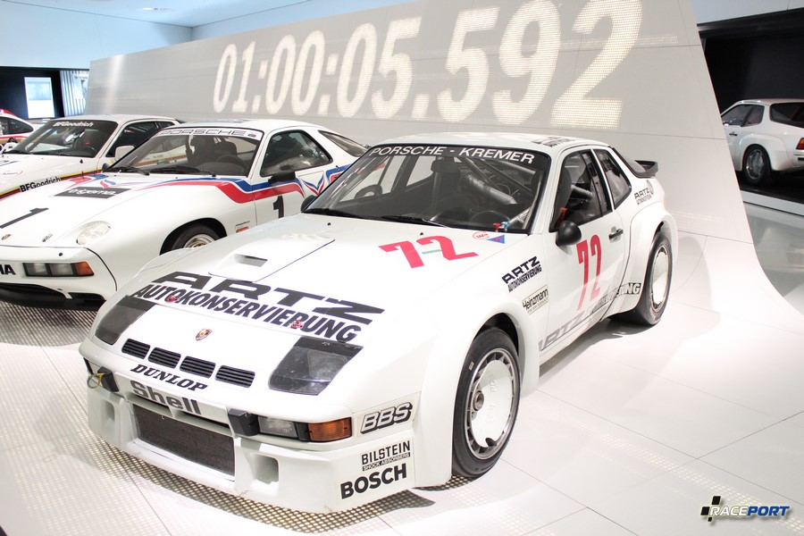 Porsche 924 Carrera GTR 1981 г. в. Двигатель турбированный 4 цил., объем 1984 куб см, мощность 375 л. с., макс. скорость 295 км/ч