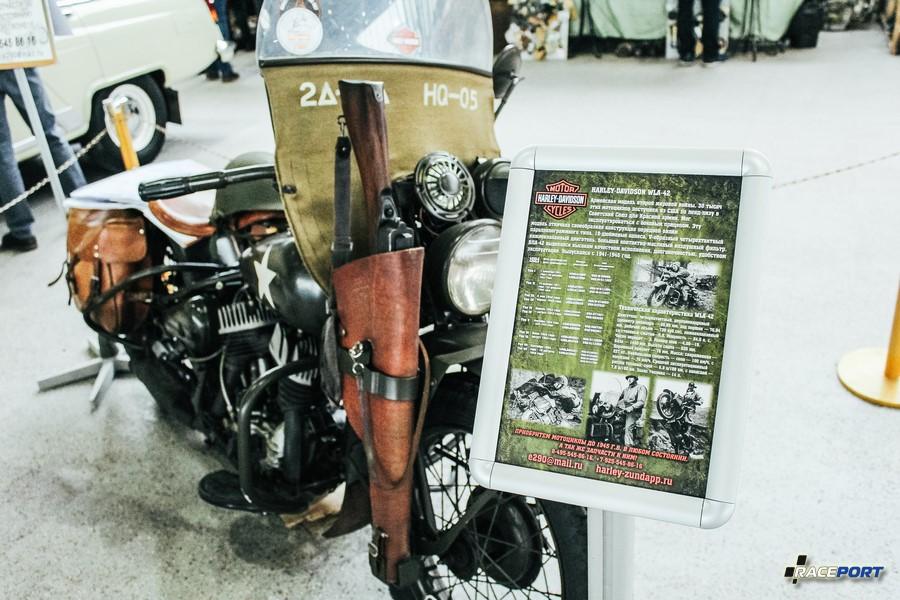 Harley Davidson WLA-42 армейская модель выпущена в количестве 30 000 штук за период 1941-1945