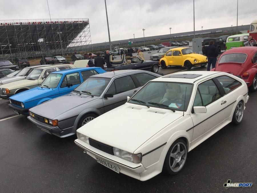 Приятно было видеть пару редких сейчас VW Scirocco