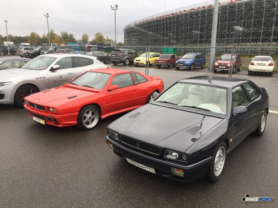 Эти Maserati Shamal и Ghibli мы показывали в фотоотчете о августовском автосалоне