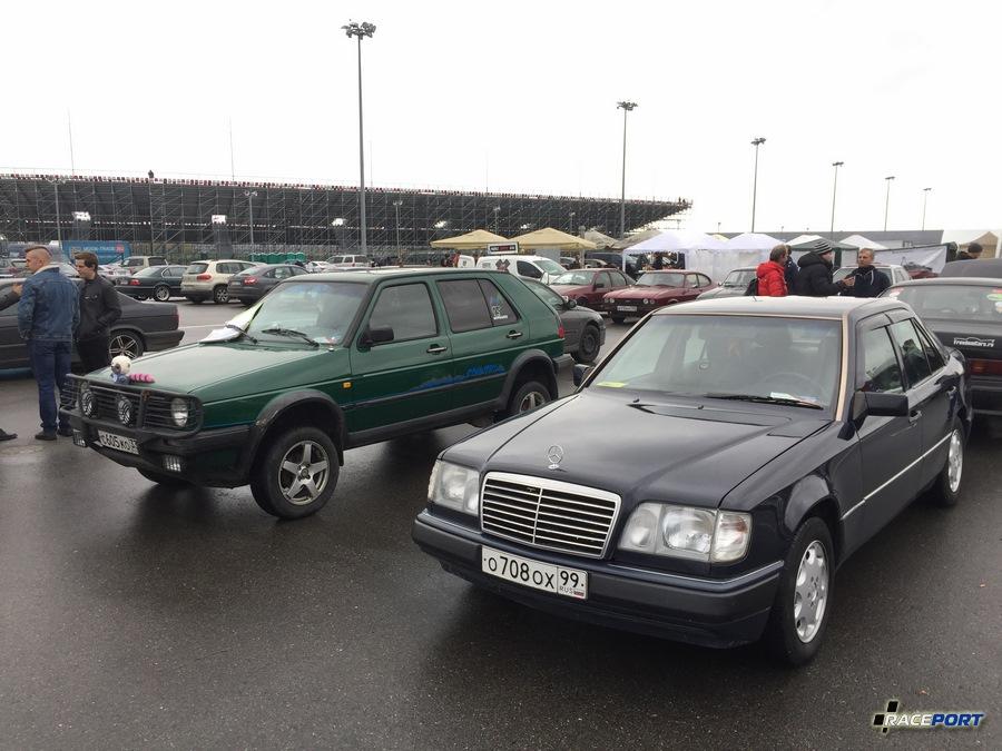 VW Golf 4x4 и Mercedes W124