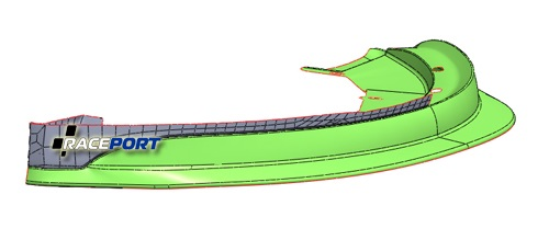 Аэродинамическая губа для Лотус Эксидж производства Roogan