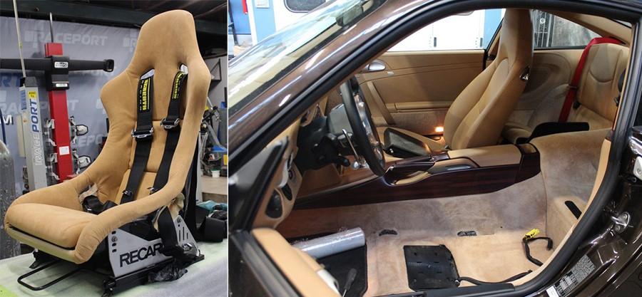 Установка спортивного сидения на дорожный 911 Turbo