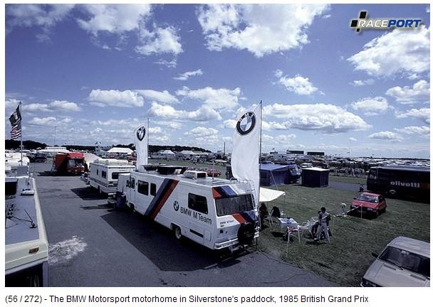 The BMW Motorsport motorhome 1985