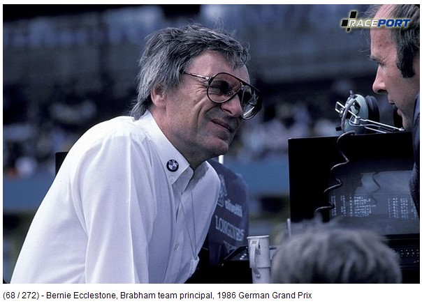 Глава команды Brabham 1986 Берни Экклстоун, сейчас владелец Ф1.