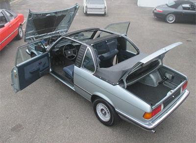 BMW 320/6 Baur E21 1981 Объем двигателя 1977 куб см, 122 л.с., пробег 93 723 км (25 000 Евро)