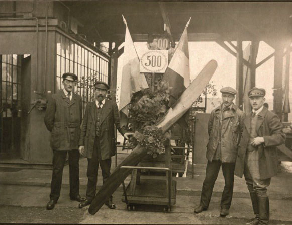 пятисотый собранный двигатель BMW Illa , 1918