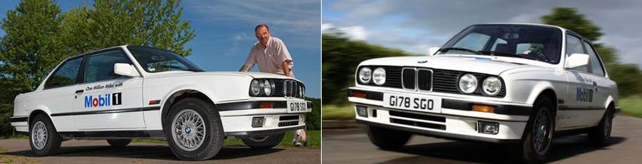 Гордость компании Мобил - BMW 325i проехавшая на их масле полтора миллиона километров, после чего отправилась в музей масляной компании.