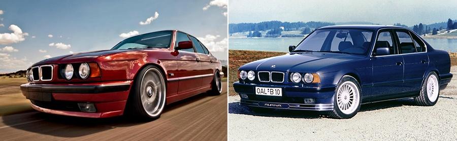 BMW 540i V8 и Alpina B10 3.5