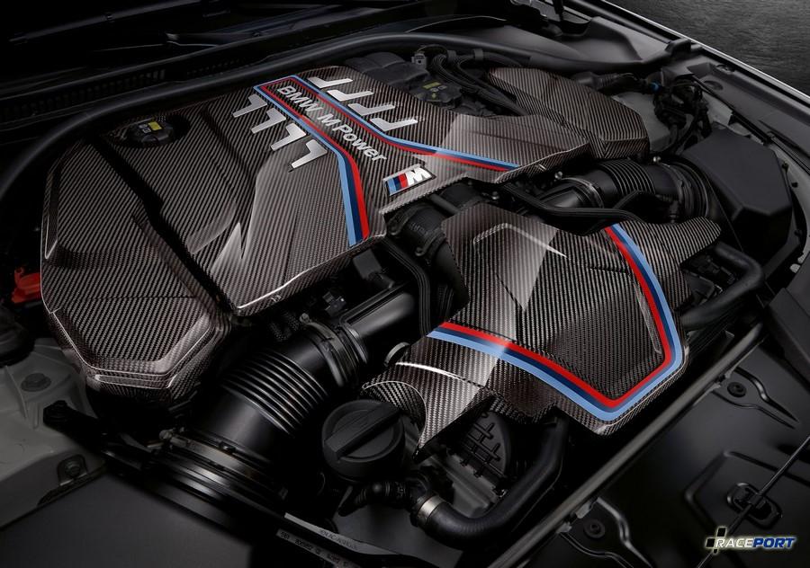 Декоративные панели двигателя из карбона M Performance