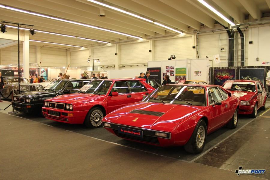 На заднем плане две Дельты автоклуба, на переднем Феррари Дино 308 ГТ 4 (Ferrari Dino 308 GT 4)