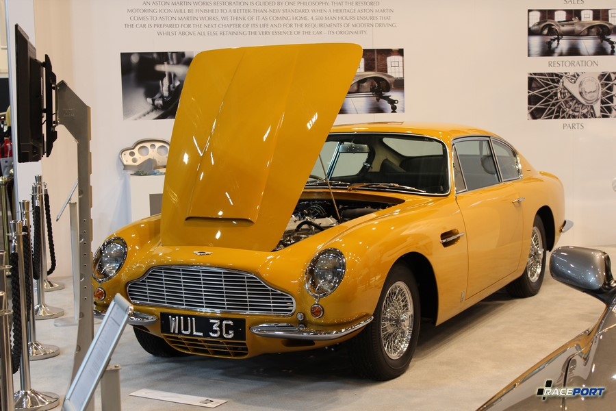 1969 г.в. Aston Martin DB6 MkI Vantage Saloon в цвете Bahama yellow. 6ти цил двигатель объемом 4.0 литра. 786 870 Euro