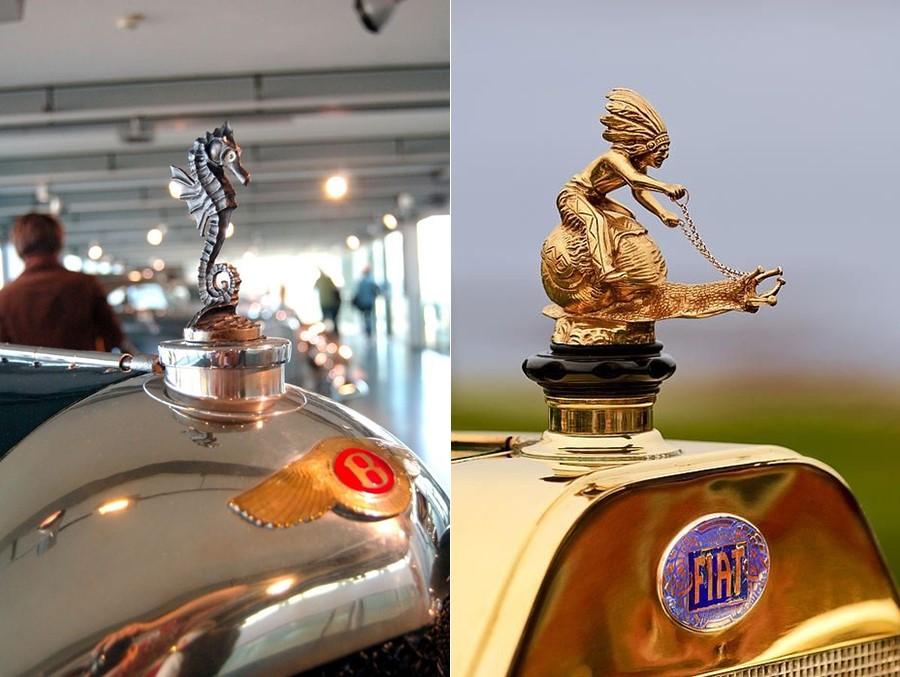 Статуи на Bentley и Fiat