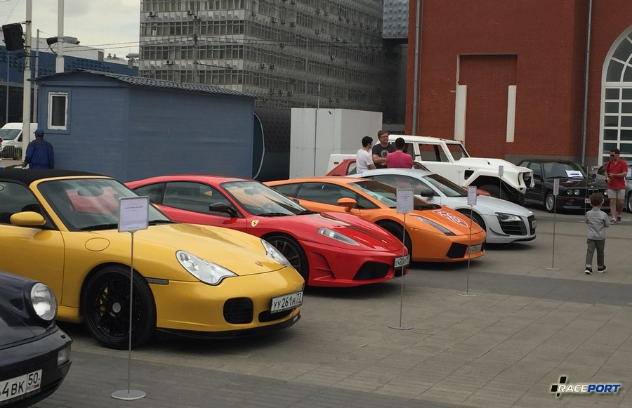 Porsche 996 Turbo, Ferrari F430 Scuderia, Lamborghini Gallardo и Audi R8 в прошлом GT