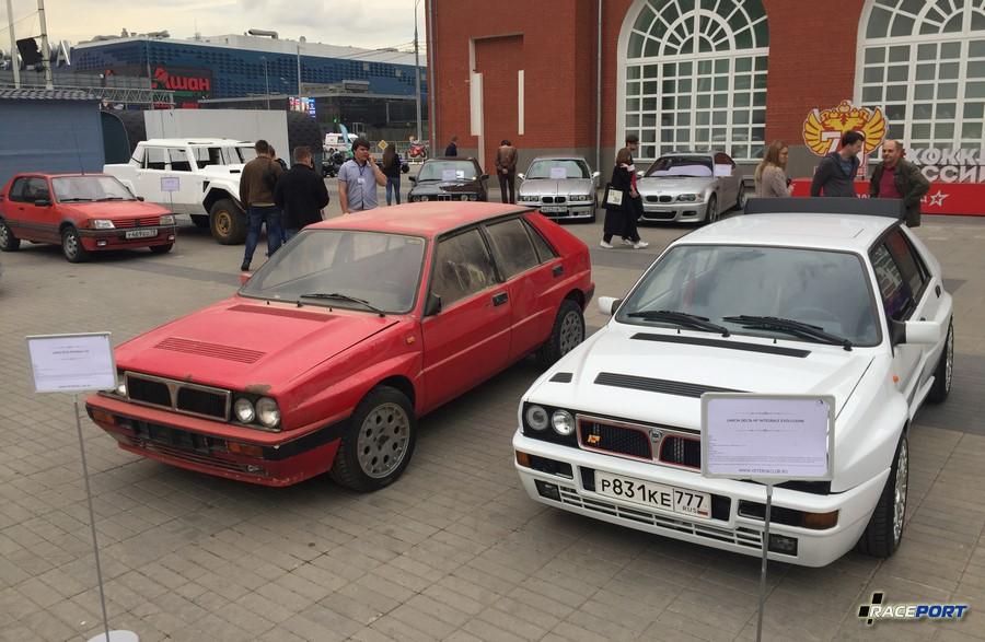 Lancia Delta Integrale до восстановительных работ слева и готовый экземпляр справа