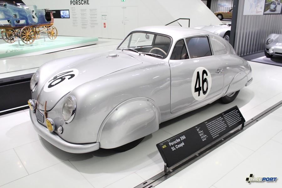 Porsche 356 SL Coupe 1950 Двигатель оппозитный 4 цил., объем 1086 куб см, мощность 46 л. с., макс. скорость 160 км/ч