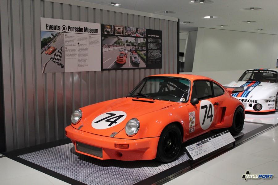 Porsche 911 Carrera RSR 3.0 1974 г. в. Двигатель оппозитный 6 цил., объем 2993 куб см, мощность 330 л. с., макс. скорость 280 км/ч, вес 1000 кг