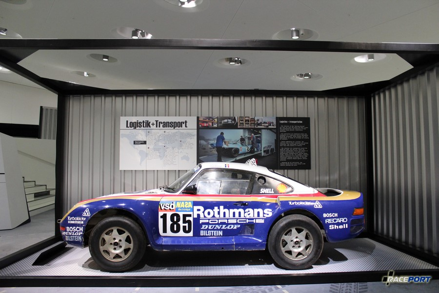 Porsche 959 Paris Dakar 1986 г. в. Двигатель турбированный оппозитный 6 цил., объем 2849 куб см, мощность 400 л. с., макс. скорость 210 км/ч, вес 1260 кг