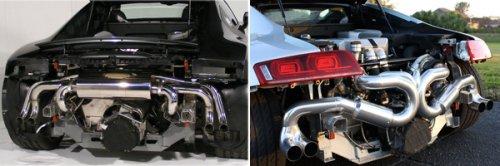 Как правило перегрев встречается на ранних моделях R8 и на машинах с модифицированными системами выхлопа и перепрошитыми DME.