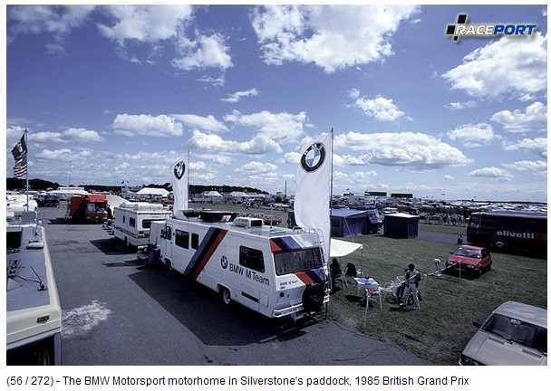 The BMW Motorsport motorhome 1985