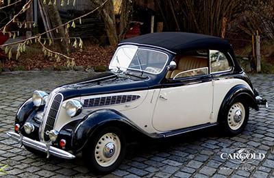 BMW 321 1939 Объем двигателя 1971 куб см, 45 л.с., макс. скорость 110 км/ч (139 800 Евро)