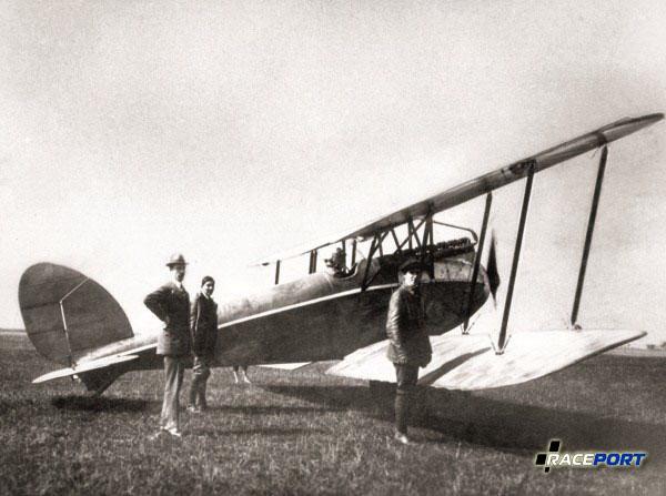Fanz Zeno Diemer перед установкой мирового рекорда по высоте полета, 17.06.1919