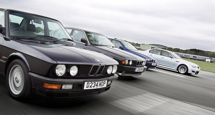 4 атмосферных поколения БМВ М5: E28 M5 (R6 S38B35), E34 M5 (R6 S38B36), E39 M5 (V8 S62B50), E60 M5 (V10 S85B50)