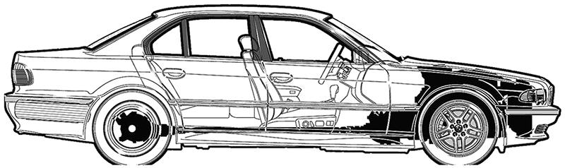 Компоновочная схема BMW E38