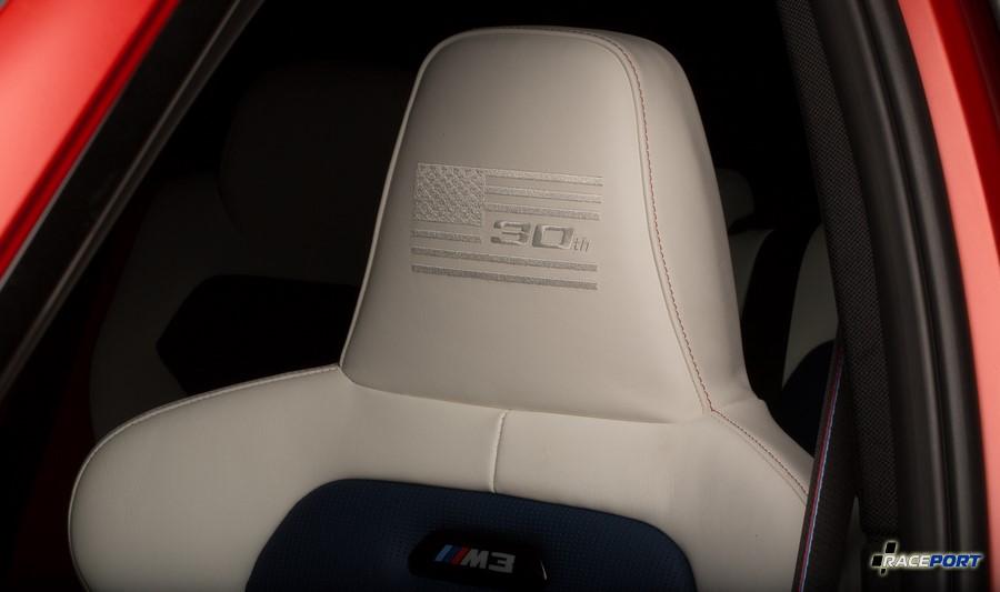 Интерьер юбилейной BMW M3 30 лет Американским версиям