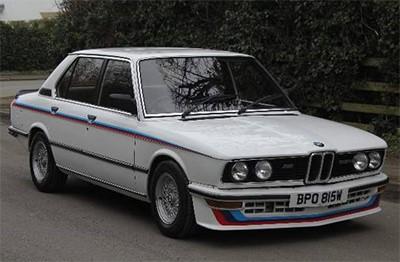 BMW M535i 1981 Объем двигателя 3453 куб см, 218 л.с. (29 995 Анг. Фунтов)