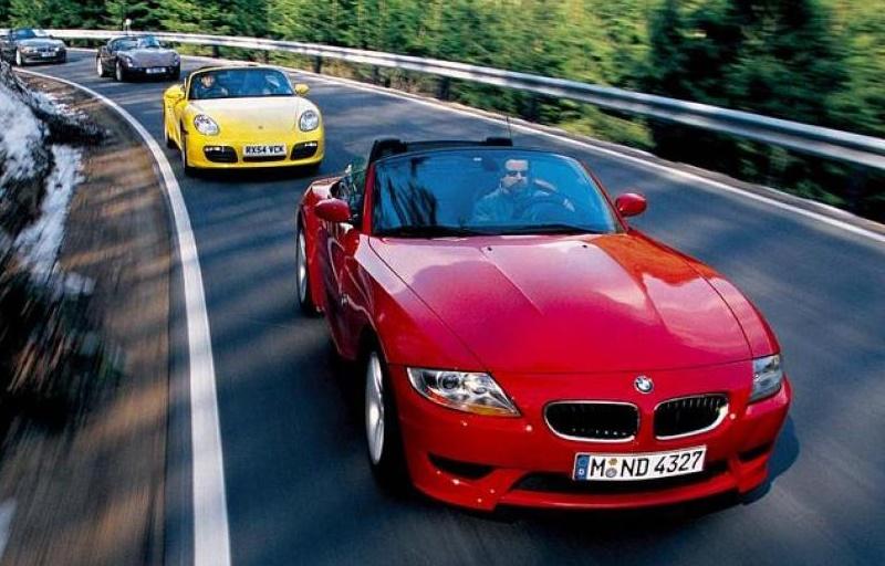 BMW Z4M Roadster на тесте с одноклассниками