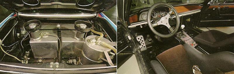 два отсека топливного бака, типичен для гоночных автомобилей, но кабина водителя сохраняет сильное сходство с аналогичным автомобилем для обычных дорог, с учетом требований к гоночным автомобилям DTM и ETCC