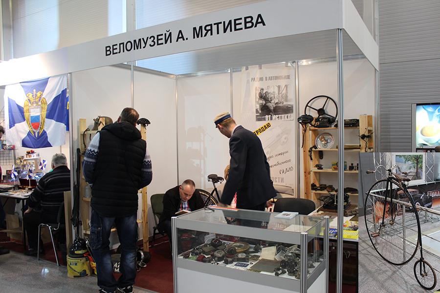 Стенд Веломузея Матиева.