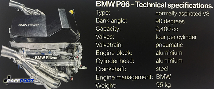 Характеристика двигателя BMW P86