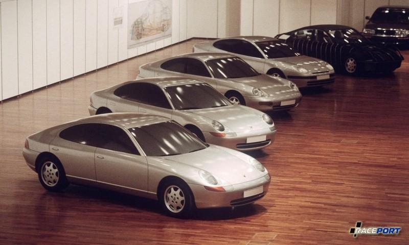 Было представленно несколько вариантов концептов Porsche 989