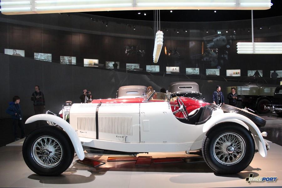 1928 Мерседес Бенц 27/170/225 PS Typ SSK Sport-Zweisitzer 6 цил. 7065 куб см. 170 л.с. атмо и 225 л. с. с компрессором 3300 об/мин. Макс. скорость 192 км/ч В период с 1928 по 1932 года выпущено 35 экземпляров.