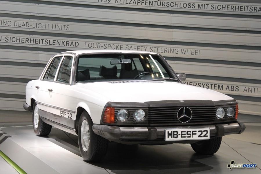 1973 Mercedes Experimentier-Sicherheits-Fahrzeug ESF 22. Это экспериментальная модель создана после введения новых норм пасивной безопасности.