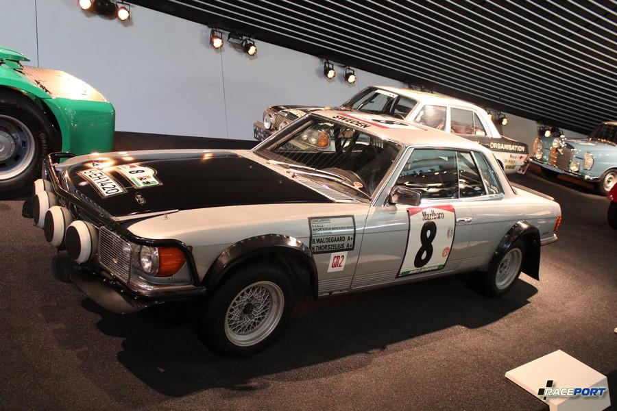 1980 Mercedes Benz 500 SLC Rallyewagen. V8 4973 куб см, 305 л. с. при 5550 об/мин, максимальная скорость 230 км/ч