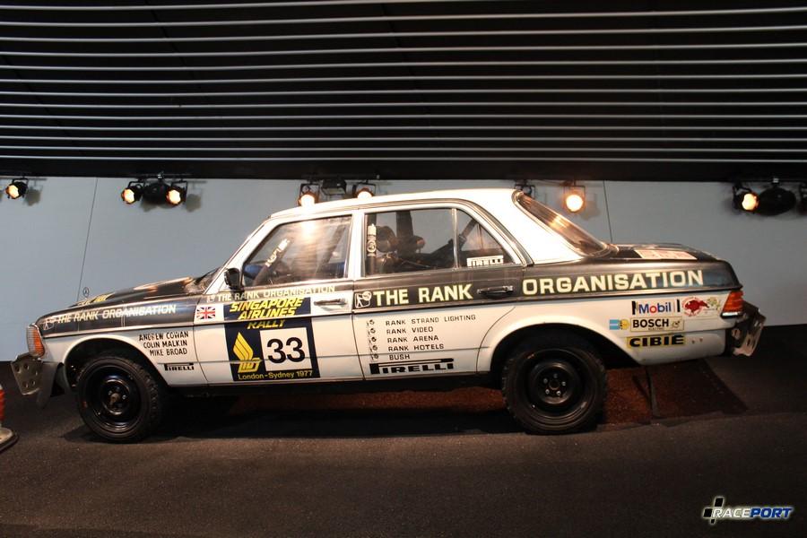 1977 MB 280 E Rallyewagen. 6 цил. 2764 куб см, 205 л. с. при 6000 об/мин, максимальная скорость 200 км/ч