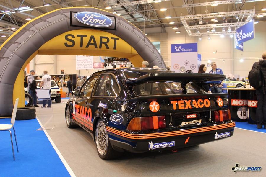 1987 г. в. Ford Sierra RS500 Cosworth (WTCC/ETCC/DTM) 2.0Л, 4 цил., 500 л.с., 1100 кг. Один из пилотов этого Форда Сьерры Клаус Людвиг, многократный победитель ДТМ (Mercedes W201)