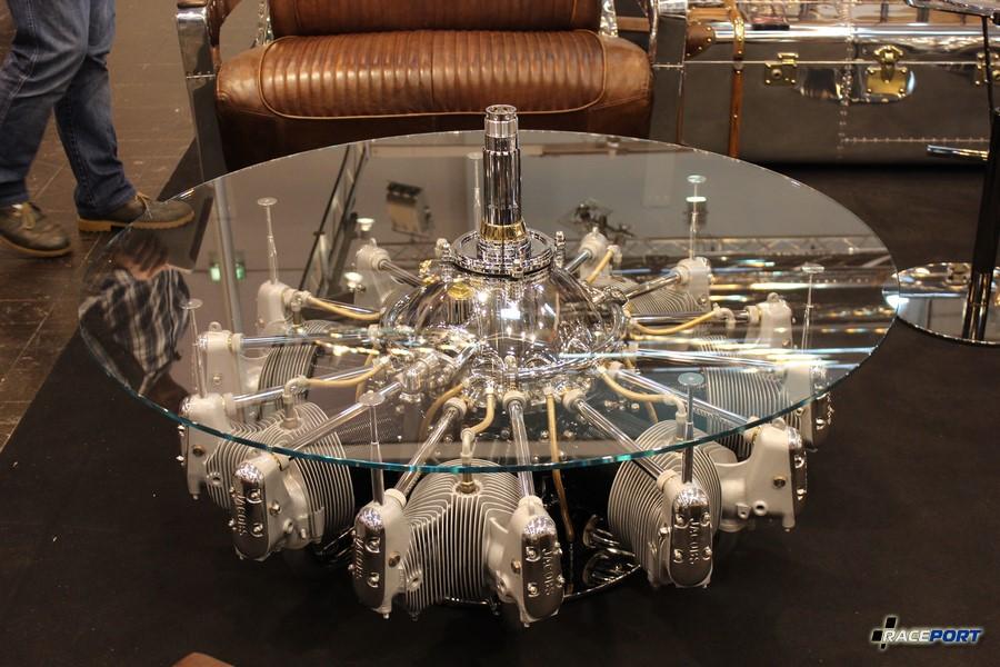 Столик из авиационного двигателя