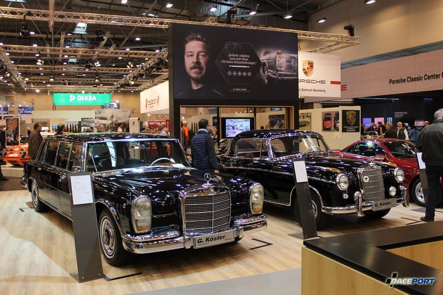 Слева Mercedes-Benz 600 Pullman (W100) 1967 г. в. 250 л. с., 8 цил. 350 000 Euro; справа Mercedes-Benz 220S Coupe (W180) 1959 г. в. 98 000 Euro