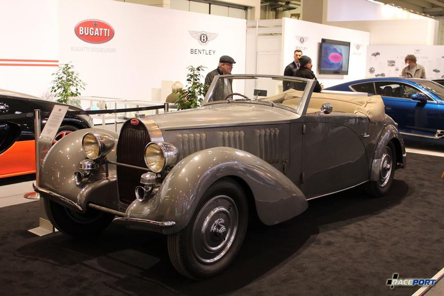 1934 г. в. Bugatti Type 57 Graber Cabriolet. 8 цил., 3,3л, 135 л. с., 170 км/ч