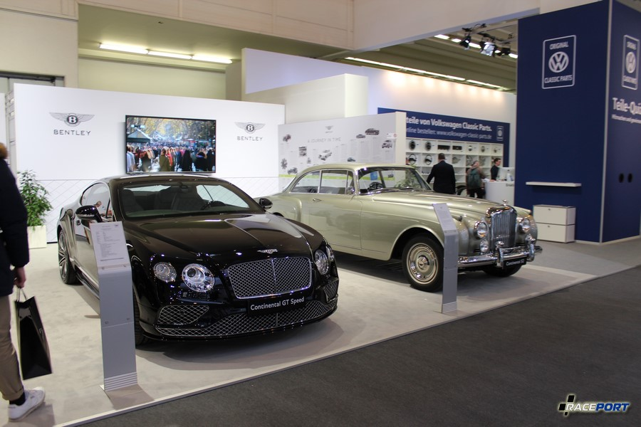 Стенд Бенли. Слева Bentley Continental GT Speed справа Continental S2