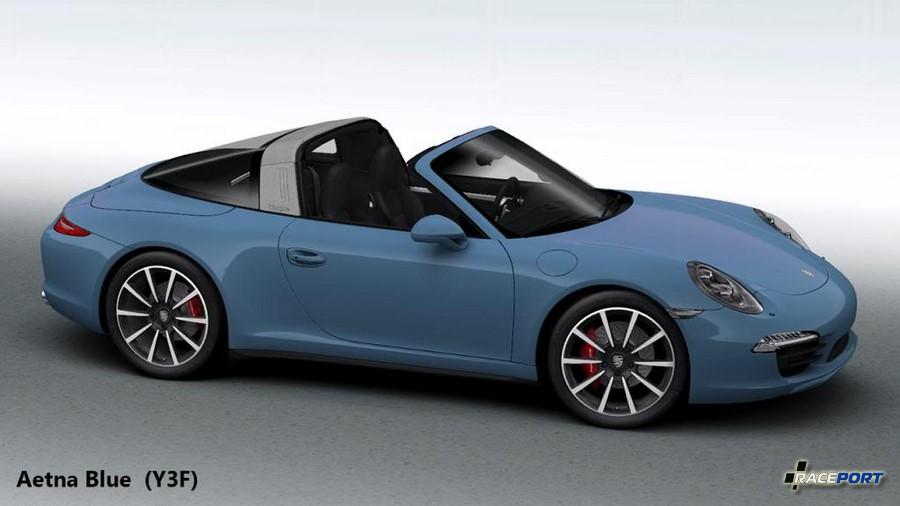 Изображение из каталога Порше при заказе нового автомобиля в индивидуальном историческом цвете