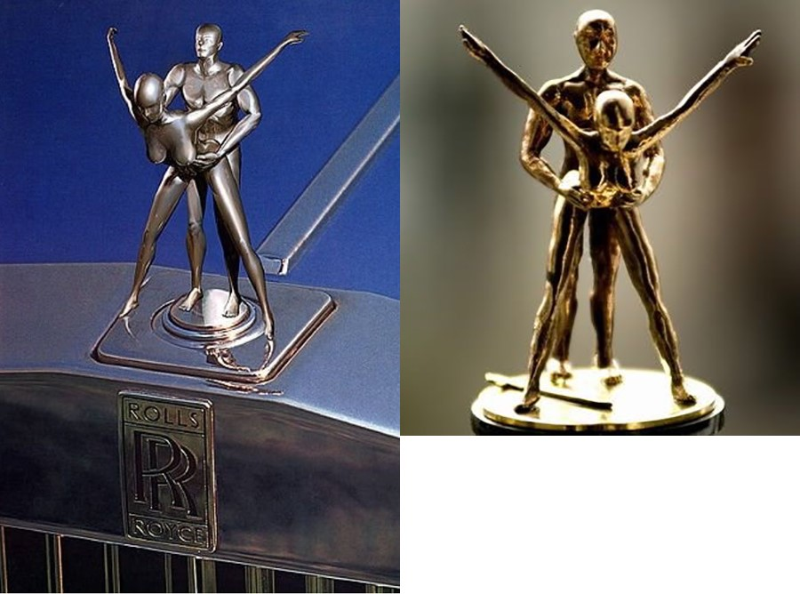 Забавные фигуры на радиаторной решетке Rolls Royce