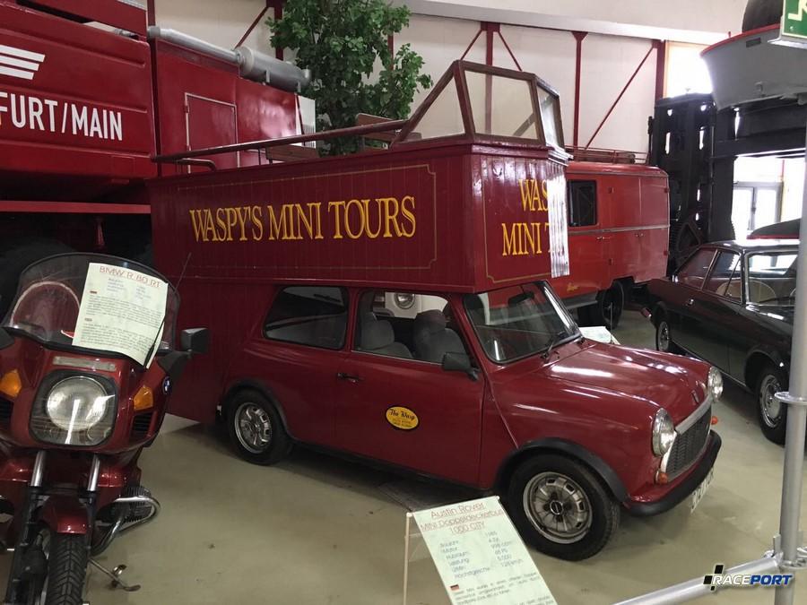 Austin Rover Mini Doppeldeckerbus 1000 City, 1965 г.в. 4х цилиндровый двигатель, объемом 998 куб см, 48 л.с. при 5000 об/мин, макс. скорость 128 км/ч
