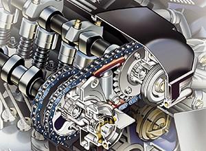 Первый простейший механизм Vanos от двигателя BMW M50. В свое время стоил всего 250 евро