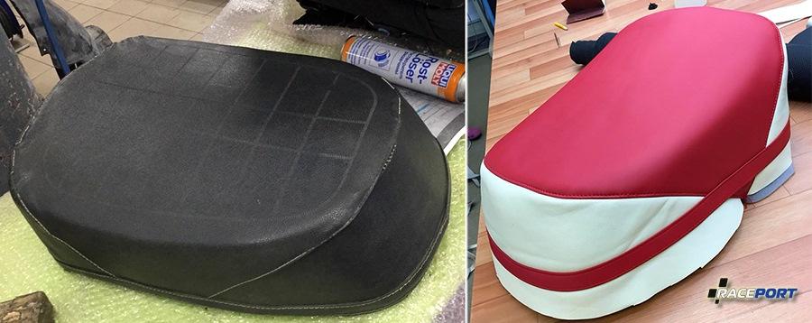 Перешив сидения на мотороллере